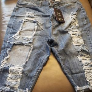 NWT Ripped Jean Shorts